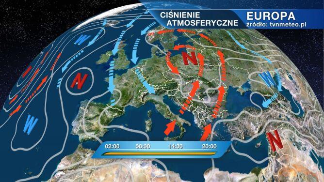Niż będzie rządził pogodą w Polsce