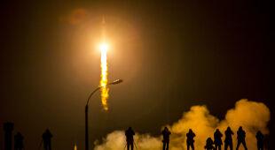 Sojuz TMA-16M podczas startu na ISS