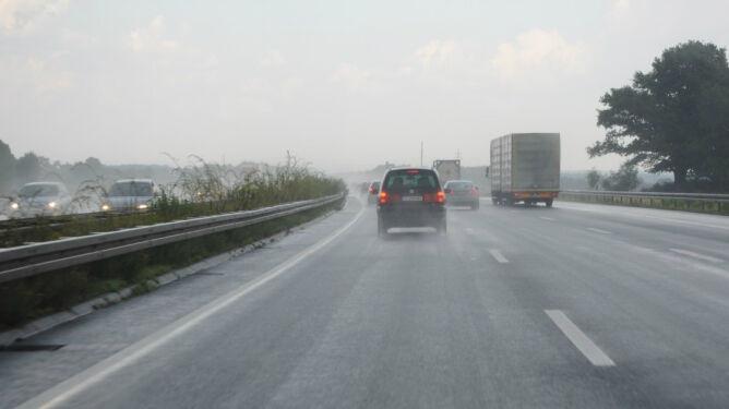 Burzowe opady wpłyną na komfort jazdy