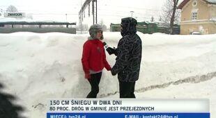 Zwardonianie dawno nie widzieli tyle śniegu (TVN24)